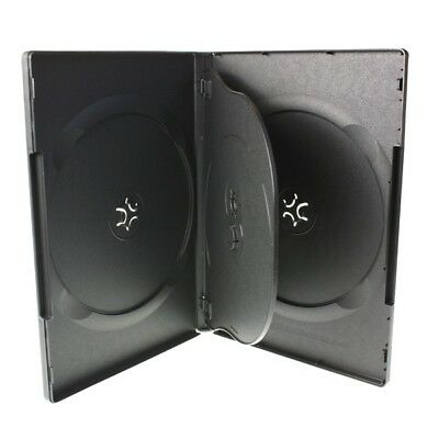 NEW! 1 Economy 4-Disc DVD Case Quad 14mm Black - Holds 4 discs - Four