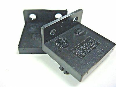 (1) Hartmann Dps8Pw Pair Of Pushwheel Switch End Plates W/flanged Mounting Holes