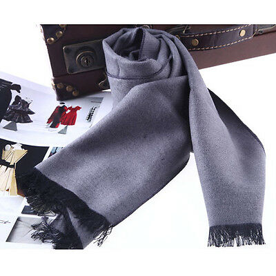 NEW MEN'S FASHION LONG WOOL WOOLEN SCARF A225m, COLOR #01