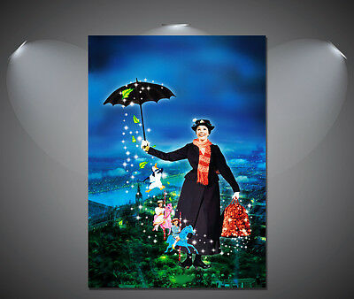 Mary Poppins Julie Andrews Vintage Movie Poster 2 - A1, A2, A3, A4 sizes