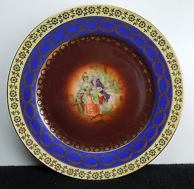 Antique German Bavarian  Courting Couple ChinaTea Plate Courting Couple O13-046