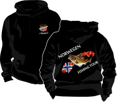 Kapuzenjacke Norwegen Norway Fishing Tour Norge Angler Reise Angeln T-Shirt 112