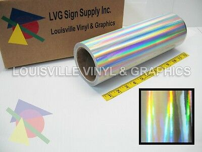 "12"" Wide - Silver Holographic -*LVG InterCal*- Craft & Hobby Cutting Vinyl Film"