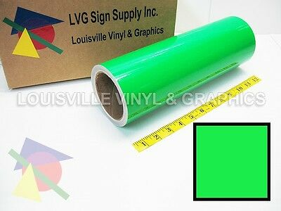 "12"" Wide - Fluorescent Green -*LVG InterCal*- Craft & Hobby Cutting Vinyl Film"
