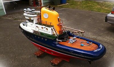 """Model Tugboat """"7 Tracing Plans"""" on a CD Large Scale RC 65"""" RC Tug """"How To Build"""""""