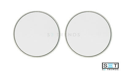 """2 Pc Round 3"""" Silver Stick-On Blind Spot Convex Wide Angle Mirrors Car Truck Suv"""