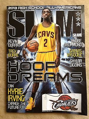 Cleveland Cavaliers Kyrie Irving SIGNED July 2013 Slam Magazine! autographed
