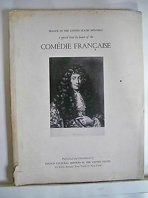 COMEDIE FRANCAISE AND THE THEATRE IN FRANCE Souvenir Program MET MUSEUM 1955
