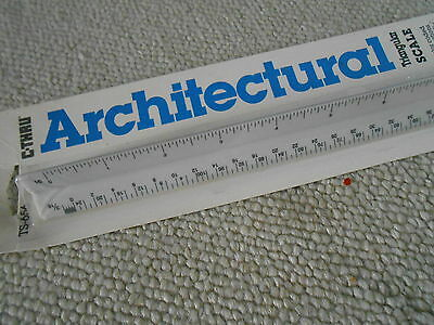 """Triangular Scale Rule  Architectural Plastic 12"""" New Unopened Nib Free Shipping"""