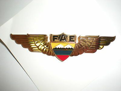 Equador Air Force Pilot's Wings - Full Size