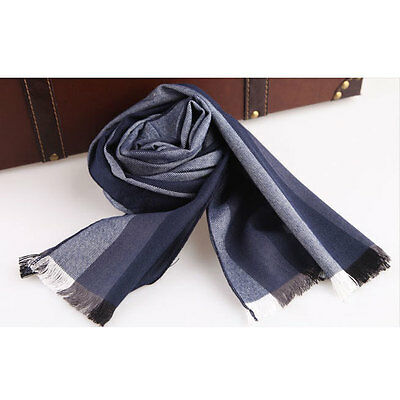 NEW MEN'S FASHION LONG WOOL WOOLEN SCARF A227m, COLOR #01