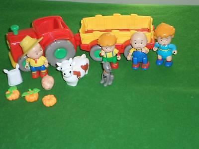 Caillou Farm Truck Gilbert Cat Rosie Figures Animals Lot