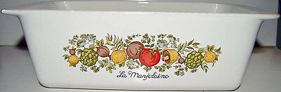 Corning Ware The Spice Of Life Bread Meatloaf Pan P-315-B Pyrex 9 x5 x 3 inches