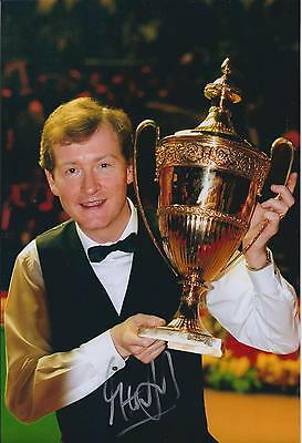 Steve DAVIS AUTOGRAPH 12x8 Signed Photo AFTAL COA SNOOKER Crucible SHEFFIELD