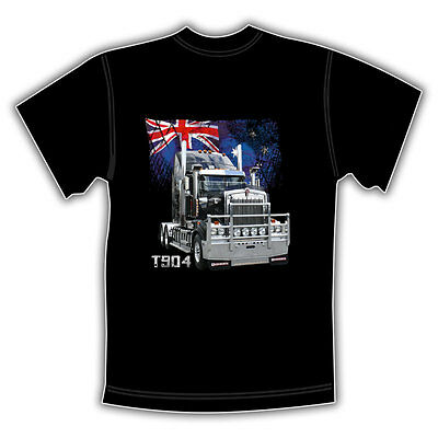 KENWORTH TRUCK T904 BLACK T SHIRT  'Aussie Flag'