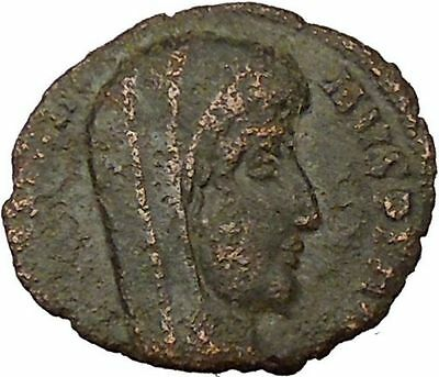 CONSTANTINE I the GREAT 347AD  Ancient Roman Coin Christian Deification  i35486