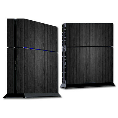 Skin Decal Wrap for Sony PlayStation 4 PS4 Console sticker Black Wood