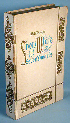 Snow White and the Seven Dwarfs Soap Set in Storybook Box Walt Disney Ent. 1938