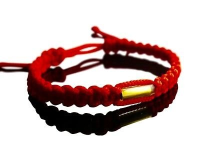 RED Blessed Buddhist Wristband FAIR TRADE + Made with Love for Good Karma.