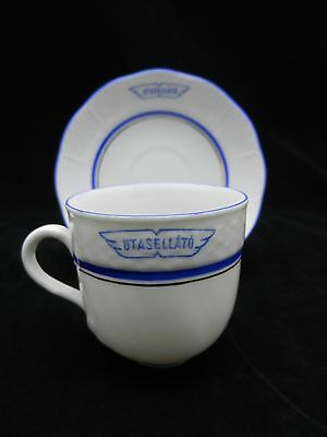 HEREND CUP & SAUCER FROM RAILROAD LINE UTASELLATO IN HUNGARY