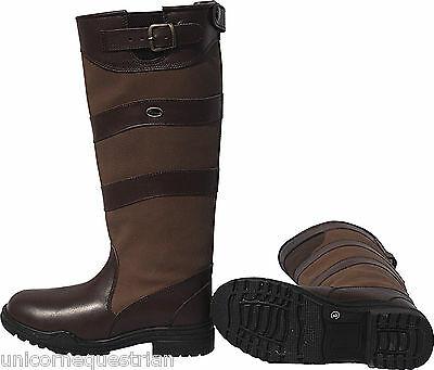 Leather Long Country Waterproof Boots Riding Walking Stable New Adults Ladies