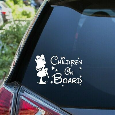 Children On Board Sticker Funny Novelty Kids Car Warning Sign Window Vinyl Decal