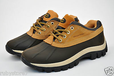 """KINGSHOW/LM Men's Yellow (Wheat) 4"""" Leather Winter Snow Work Boots Shoes 7014-2"""