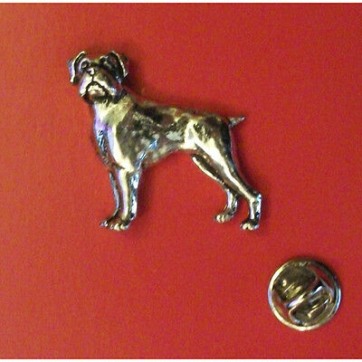 Rottweiler Pin Badge Tie Pin XTSBPD15 Lapel Badge English Pewter Dog