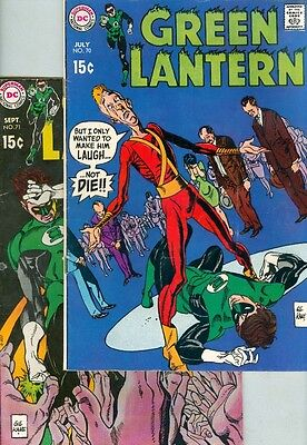 Green Lantern #70 and #71 VG Gil Kane Art