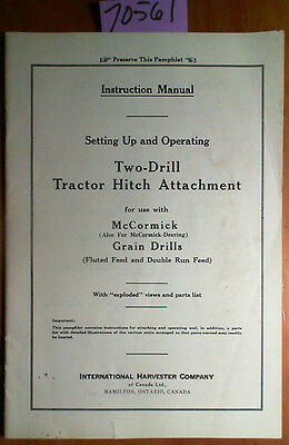 IH International McCormick-Deering Two Drill Tractor Hitch Grain Drill Manual 49