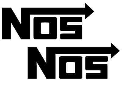 "(2) 5"" NOS nitrous sticker decal car truck racing suv"