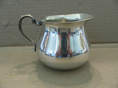 Unknown silver plated creamer without cover