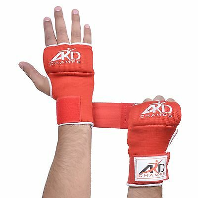 ARD FOAM PADDED INNER GLOVES WITH WRAPS MUAY THAI BOXING MARTIAL ARTS Pink S-XL