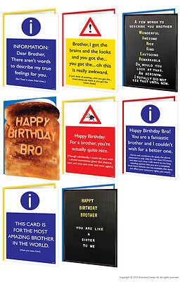 Brainbox Candy Brother Bro Birthday greeting cards funny rude cheeky joke risque