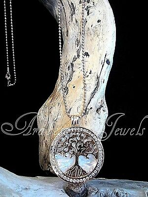 Genuine Mi Milano Necklace/pendant Tree Of Life/pearl Coin/moneda Rose Gold Ajmm
