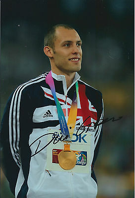 Dai GREENE 12x8 Signed Photo Autograph AFTAL COA British ATHLETE
