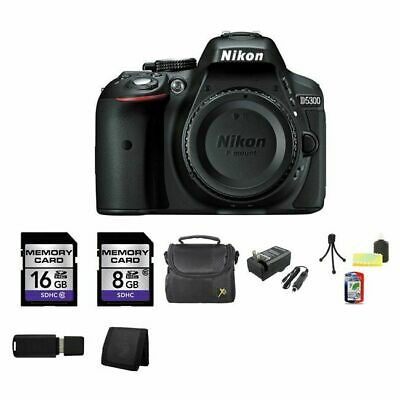 Nikon D5300 Digital SLR Camera (Body) - Black 24GB Package