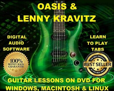 Oasis 293 & Lenny Kravitz 174 Guitar Tab Software Lesson CD & 86 Backing Tracks