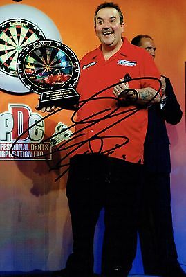 Phil The Power TAYLOR Signed 12x8 Autograph Photo AFTAL COA Darts Champion