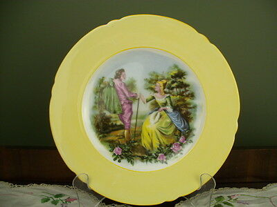 SHELLEY PLATE 24cm ROMANTIC LOVERS SCENE