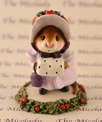 MISS NOEL by Wee Forest Folk, WFF# M-146, Lavender, Mouse Expo 2003 Exclusive
