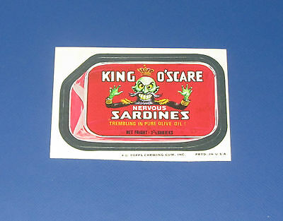 73 WACKY PACKAGES SERIES 11 TB KING O'SCARE SARDINES  NM+