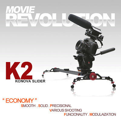 "konova Camera Slider K2 60cm 24"" track dolly dslr canon nikon mark3 brand new"