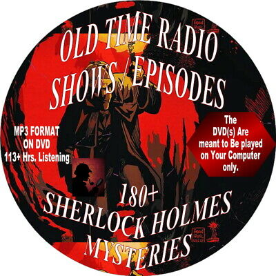 Sherlock Holmes-230+ Old Time Radio Episodes/Shows-MP3 Audiobook on DVD-Mystery