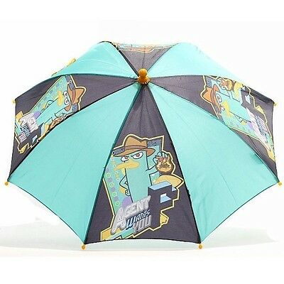 "Disney Phineas & Ferb ""Agent Wants You"" Boy's Blue 3D Handle Umbrella"