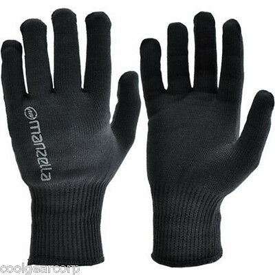 NEW Manzella Max-10 Light Weight Handwear Liner Glove Black Womens M/L 2-Pairs
