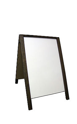 Dry Erase Double Sided Sidewalk Pavement A-Frame Restaurant Menu Board Sign Wood