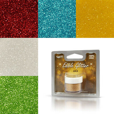 EDIBLE Glitter Rainbow Dust Cake Decorating Cupcake FACTORY SEALED 17g gross pot