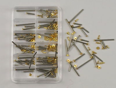 Assortment tube friction pin pins clasps straps bracelets rivet ends 8mm - 20mm