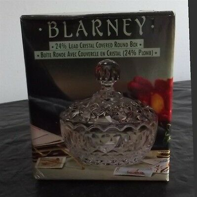 Vintage Blarney 24% lead Crystal Covered Round Bowl NIB